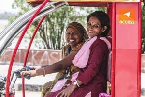 A not-for-profit organisation has trained women from the weaker sections of the society to drive the battery-operated e-rickshaws that have been modified and painted pink.