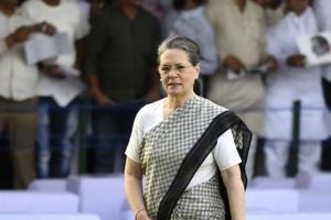 In her audio message, Sonia Gandhi hit out at Prime Minister Narendra Modi for his remark that those pursuing politics of opposition had turned irrelevant.