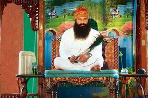 Gurmeet Ram Rahim Singh during one of his preaching sessions.