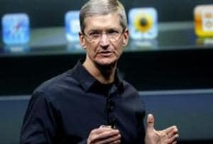 File photo of Apple CEO Tim Cook at Apple headquarters in Cupertino, California.