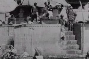 "Screengrab from the film Panorama Of Calcutta, shot in 1899 and believed to be the earliest known surviving film of India in the British Film Institute's ""India on Film: 1899-1947"" collection."