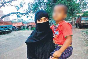 Fatma Suraiya, a resident of Hazaribagh, said her husband uttered talaq, talaq, talaq and forced her and her daughter out of the house. (HTPhoto)