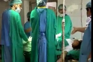 The two doctors were  immediately removed from their duty after the incident was reported.