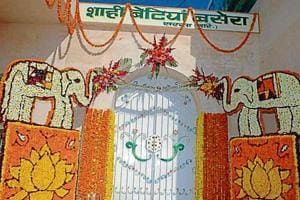 The entrance to the place where 'shahi betiyan' were lodged in the dera.