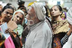 This photograph of Nand Lal taken on December 13 touched a raw nerve among thousands of readers who saw in him the embodiment of the struggles triggered by the November 8 decision to scrap Rs 500 and Rs 1,000 bank notes.