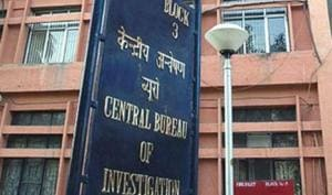 The central bureau of investigation office in New Delhi.