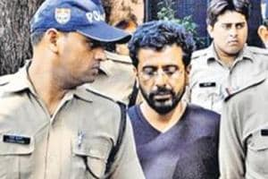 Rajesh Gulati confessed to killing his 33-year-old wife by slamming her head against the wall. (HT Photo)