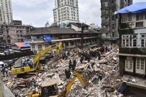 Rescue operations underway at Bhendi Bazaar.