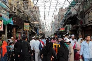 Matia Mahal lane in Old Delhi gets decorated ahead of Eid.