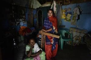 Anita Chetty, a former SPO earns around Rs 1,000 per month by working as a maid in Bijapur, just enough for herself for herself and her mother (also in the picture), whom she occasionally visits.