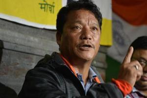 Gorkha Janmukti Morcha president Bimal Gurung (above) wants the Centre to convene a tripartite meeting on the Gorkhaland issue.