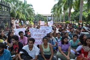 The agitation was launched against the alleged harassment and corruption at the university, three days ago.