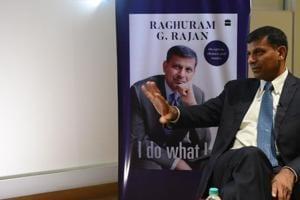 Former RBI governor Raghuram Rajan during an interview with HTin New Delhi on Thursday.