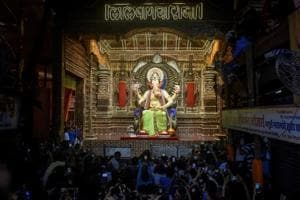 At Lalbaugcha Raja, gold, silver, currency, every donation counts