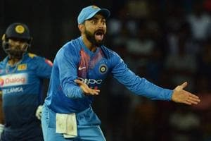 Indian cricket captain Virat Kohli (R) motivates his players to perform by a brand of captaincy that involves a relentless quest of perfection.That was evident in how the team played in all three formats against Sri Lanka cricket team.