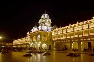 A section of Golden Temple complex already has the new LEDlights operational.