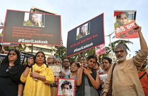 Journalists, activists hold protest against Gauri Lankesh