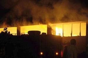 Fire that broke out on Wednesday at sector 68 in Noida reduced a factory of sweets and snacks manufacturer Haldiram to ashes.