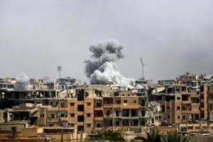 The army said the air raid targeted a facility near the western town of Masyaf, close to the Mediterranean coast, a stronghold of President Bashar Assad.