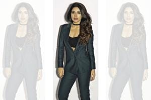 Styling by Muskaan Goswami; Make-up and hair by Flavia Guiliodori and Jose Herrera. Bhumi wears a pantsuit and bralet from Intrinsic