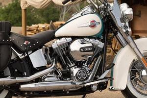 Harley Davidson's Heritage Softail Classic model.
