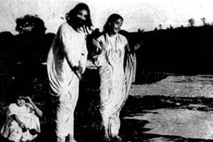 A still from India's first feature film, Raja Harishchandra directed by Dadasaheb Phalke.