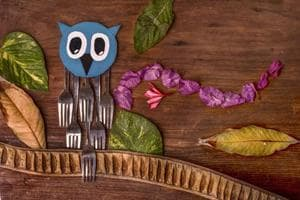 Forky Owl from the series Fun With Forks by Maitri Sharma.