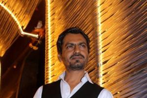 Nawazuddin Siddiqui during the success party of Babumoshai Bandookbaaz.