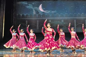 A still from the Mughal-e-Azam show that is coming to Delhi.