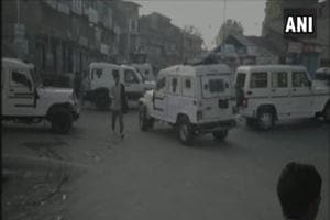 A police official said that militants had fired on policemen near Anantnag's  bus stand.