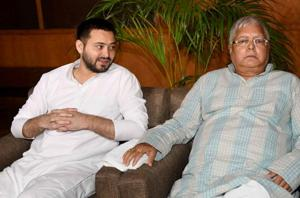 RJD chief Lalu Prasad and his son Tejashwi  Prasad Yadav.