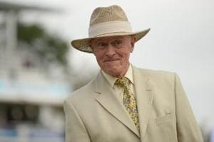 Geoffrey Boycott at the third test match between England and the West Indies at Lord