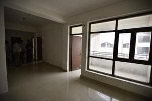 An HIG flat built by DDA in Jasola Vihar in south Delhi.