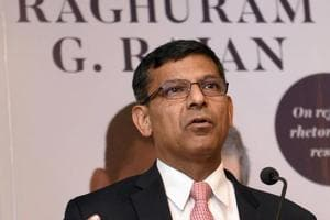 Former Reserve Bank of India governor Raghuram Rajan speaks during the launch of his book in Mumbai.