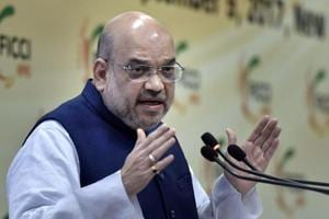 BJP National President Amit Shah addressing at an interactive session with FICCI in New Delhi.