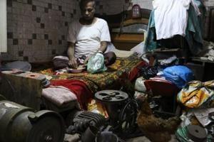 Shamim ud Din at his room in Old Delhi.