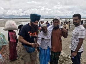 The volunteers are currently in Teknaf, a town on the border of Myanmar and Bangladesh.