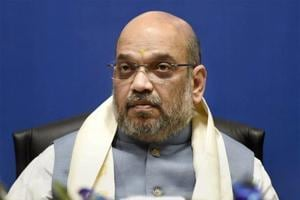 BJP president Amit Shah during the 2nd Conclave of North-East Democratic Alliance (NEDA), in New Delhi.