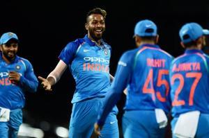 Hardik Pandya's 66-ball 83 and 2/28 helped India beat Australia by 26 runs in the rain-hit first ODI in Chennai.