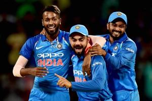 Hardik Pandya's spraking all-round performance helped India beat Australia by 26 runs in a match reduced to 21 overs due to rain in Chennai. Catch highlights of India vs Australia, 1st ODI, here