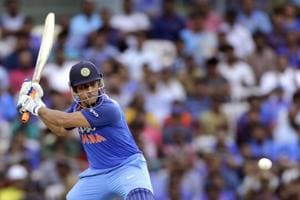MS Dhoni in action during the first ODI between India and Australia at the MA Chidambaram Stadium, Chennai.