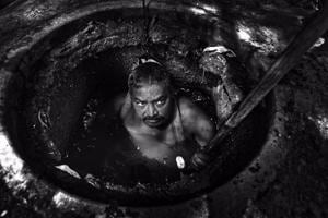 Photos| Down Under: Sewer workers in Delhi battle deplorable work conditions