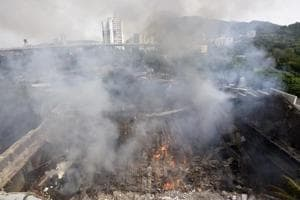 A fire broke out at the iconic RK Studio in Chembur area in Mumbai on September 16.