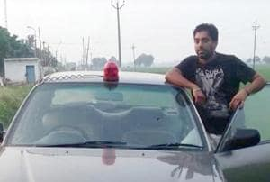 File photo of Jazzinder Singh Virk alias Garry, who is an accused in the kidnapping of an assistant professor from Guru Nanak Dev University.