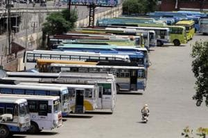 The present PRTC bus stand in Patiala. The administration plans to shift it to a new site.