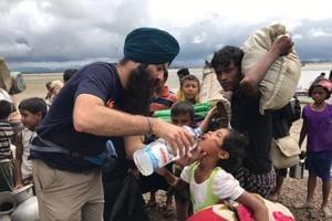 The NGO has been posting images of their volunteers helping Rohingya refugees on the Bangaldesh-Myanmar border.