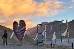 The 'I love Spiti' installation was unveiled at Nath's first Instagram meet at 12,000+ feet in Kaza.