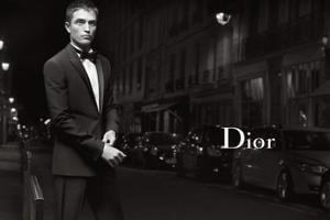 Robert Pattinson poses for Dior.