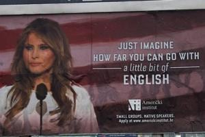 Melania Trump threatens lawsuit over English class ad in Croatia using...