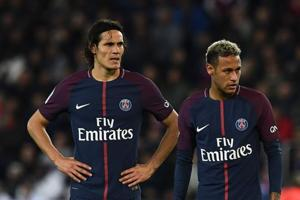 Neymar, Edinson Cavani kept apart as Paris Saint-Germain set piece row...
